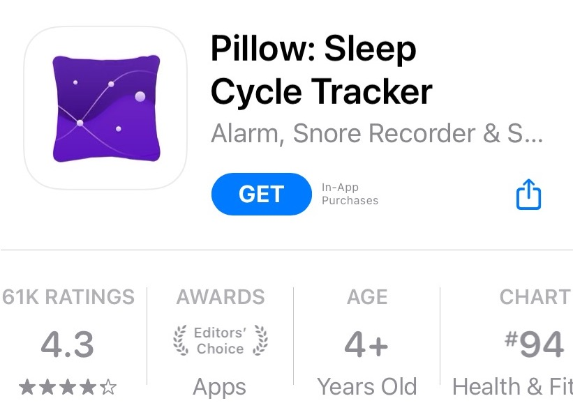 pillow4.0 - best free sleep tracking apps