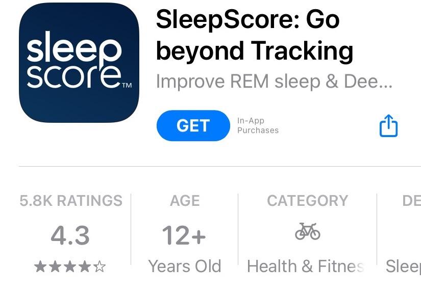sleepscore - best apps to track sleep